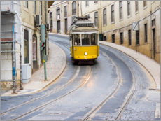 Premium poster  Yellow tram in Lisbon - Terry Eggers