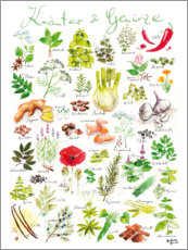 Aluminium print  Herbs and spices (german) - Andreas Hirsch