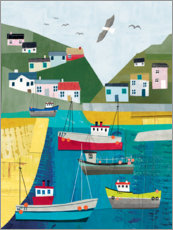 Gallery print  Colorful harbor - Charlotte Pepper