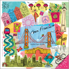 Premium poster  Global Travel - San Francisco - Farida Zaman
