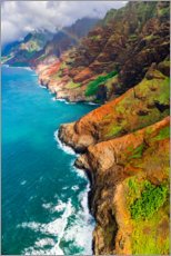 Canvas print  The Na Pali coast - Russ Bishop