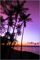 Canvas print  Sunset in Anaeho'omalu Bay III - Russ Bishop
