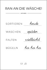 Foam board print  Wash plan (german) - Typobox