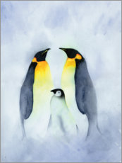 Canvas print  Penguin family - Ray Shuell