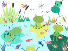 Canvas print  Frog pond - Pope Twins