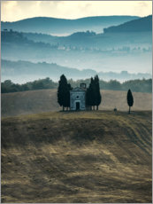 Premium poster Small chapel in Tuscany