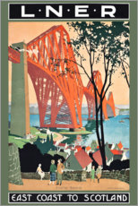 Canvas print  Traveling on the East Coast to Scotland (English) - Henry George Gawthorn