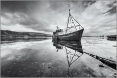 Premium poster  Old shipwreck in the mirroring lake - The Wandering Soul