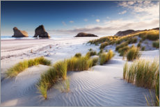 Canvas print  Deserted beach in New Zealand - The Wandering Soul