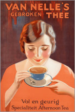 Premium poster  Van Nelle tea (Dutch) - Advertising Collection