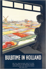 Acrylic print  Holland, Tulip time - Travel Collection
