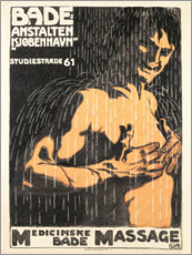 Premium poster  Bathing establishments Copenhagen (Danish) - Advertising Collection