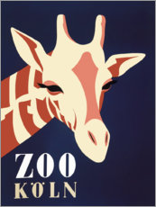Canvas print  Zoo Cologne (German) - Advertising Collection