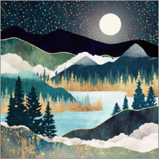 Canvas print  Star Lake Landscape - SpaceFrog Designs