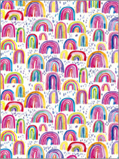 Canvas print  Colourful Watercolour Rainbows - Ninola Design