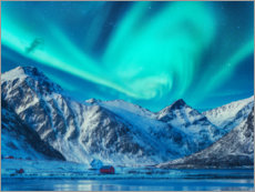 Premium poster  Northern Lights over the Lofoten