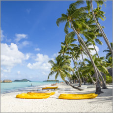 Canvas print  Beach vacation on Bora Bora - Jan Christopher Becke