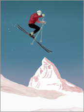 Acrylic print  Mountain Love   Skier - Mantika Studio