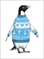 Canvas print  Penguin in a sweater - Nikita Korenkov
