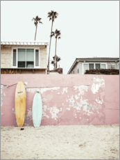 Aluminium print  Surfboards at the Beach House - Sisi And Seb