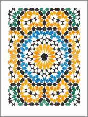 Canvas print  Blooming mosaic - Mantika Studio