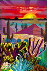 Canvas print  The Desert in Your Mind - Charles Harker