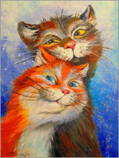 Premium poster  Cats couple - Olha Darchuk