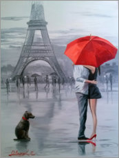 Acrylic print  Paris for two - Olha Darchuk