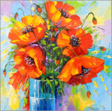 Canvas print  Bouquet of poppies - Olha Darchuk