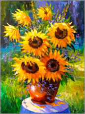 Acrylic print  Bouquet of sunflowers - Olha Darchuk