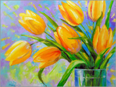 Gallery print  Bouquet of yellow tulips - Olha Darchuk