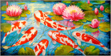 Wall sticker  Koi in the pond - Olha Darchuk