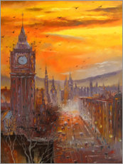 Premium poster  In the evening in London - Olha Darchuk