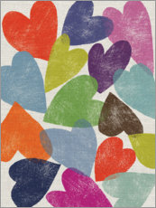 Wall sticker Colorful hearts