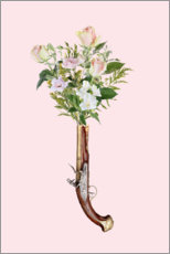 Premium poster Revolver with flowers