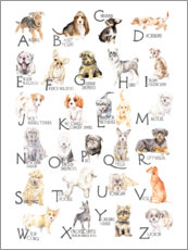 Foam board print  Dogs from A to Z - Wandering Laur