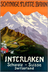 Acrylic print  Interlaken - Travel Collection