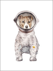 Canvas print  Laika the space pup - Wandering Laur
