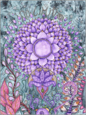 Canvas print  Crown chakra - Maria Forrester