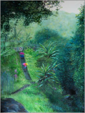 Acrylic print  A staircase in the jungle - Jonathan Guy-Gladding