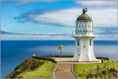 Premium poster Meeting point of two oceans, Cape Reinga