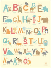 Aluminium print  Animal alphabet (Swedish) - Petit Griffin
