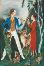 Aluminium print  The young man and the girl - Nils von Dardel