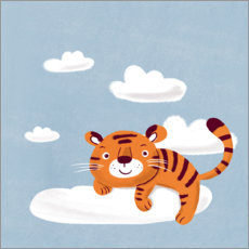 Wood print  Dream tiger - Julia Reyelt