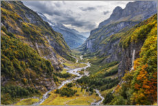 Acrylic print  Remote valley in the Alps - The Wandering Soul