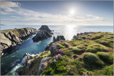Canvas print  Colorful sea view in Ireland - The Wandering Soul