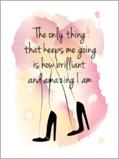 Acrylic print  The only thing that keeps me going... - Martina illustration