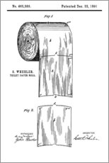 Gallery print  Vintage Patent Toilet Paper