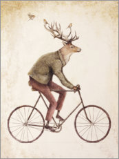 Canvas print  Deer on a Bike - Mike Koubou