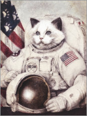 Canvas print  Meow out of Space - Mike Koubou